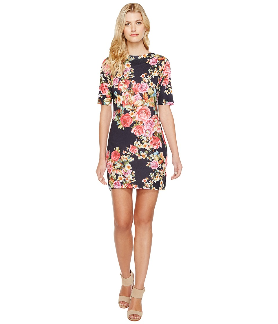 Nally & Millie - Rose Print Dress (Multi) Women's Dress