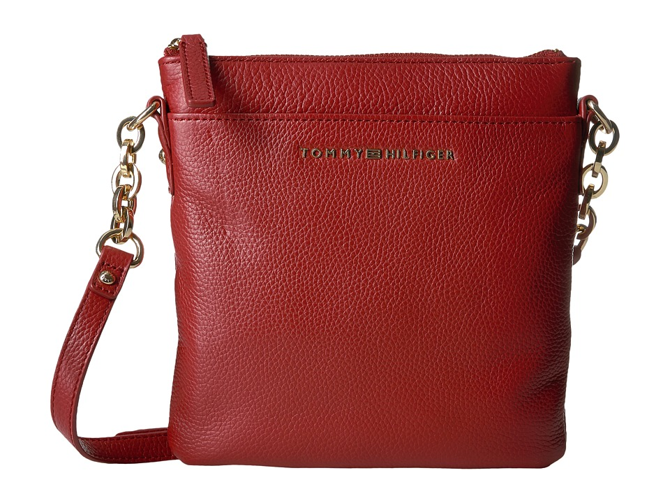 Tommy Hilfiger - Eloise Pebble Leather Crossbody (Tommy Red) Cross Body Handbags
