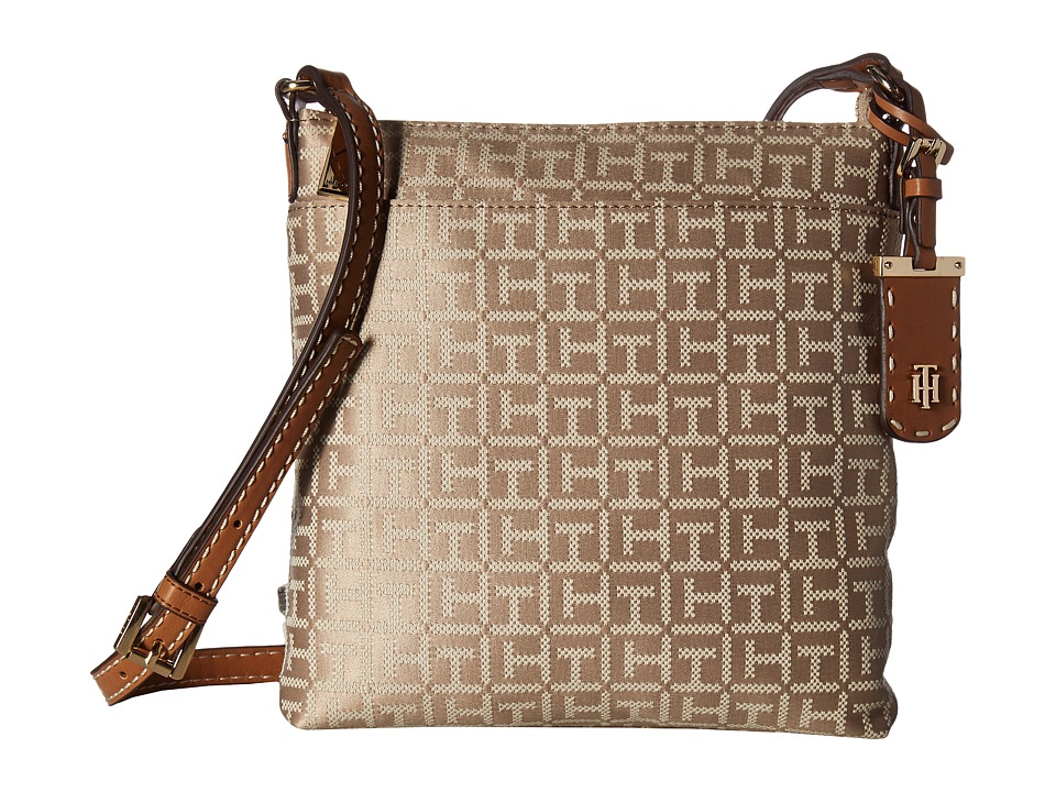 Tommy Hilfiger - Julia Signature Jacquard Crossbody (Khaki Tonal) Cross Body Handbags