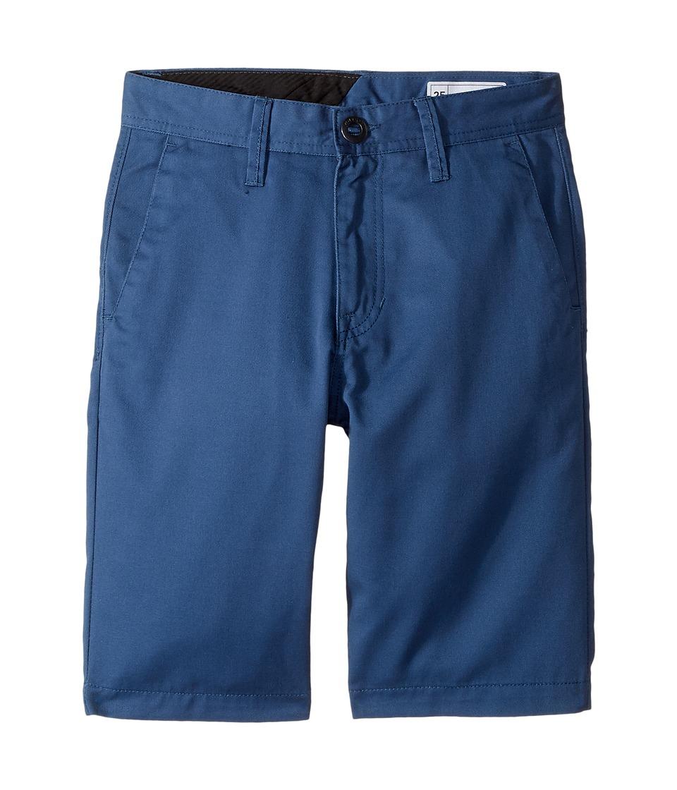 Volcom Kids - Frickin Chino Shorts (Big Kids) (Cloud Blue) Boy's Shorts