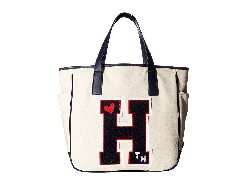 Tommy Hilfiger - Emily Collegiate Tote (Natural) Tote Handbags