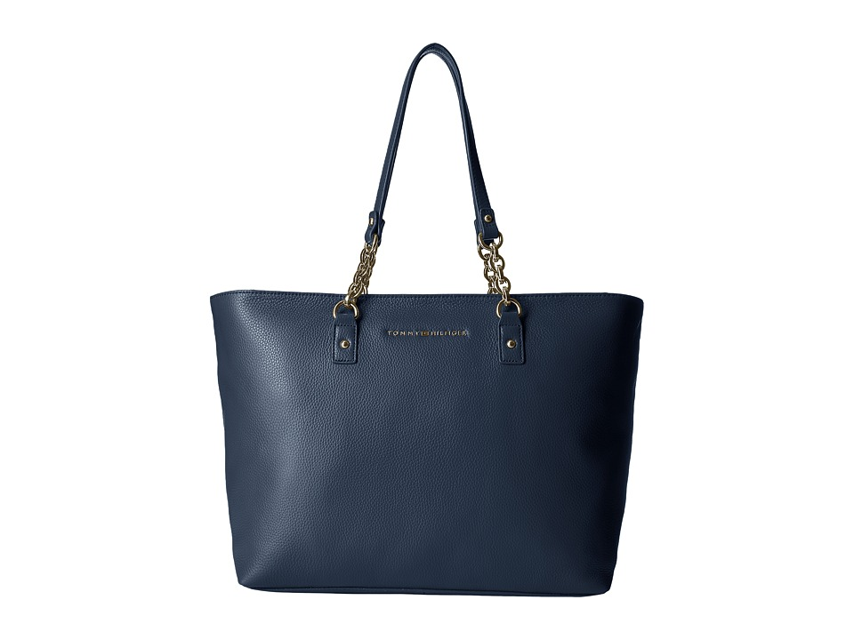 Tommy Hilfiger - Eloise Pebble Leather Tote (Tommy Navy) Tote Handbags