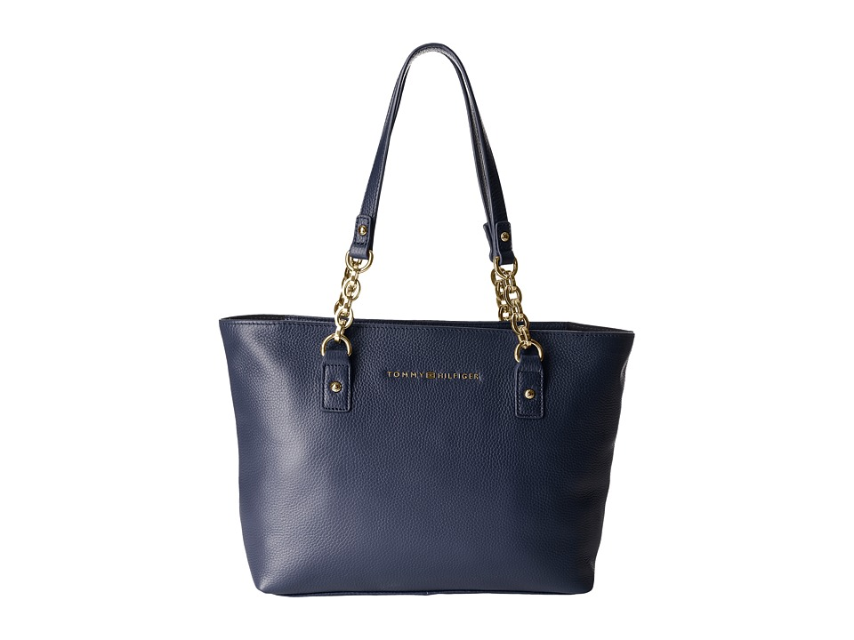 Tommy Hilfiger - Eloise Pebble Leather Shopper (Tommy Navy) Handbags