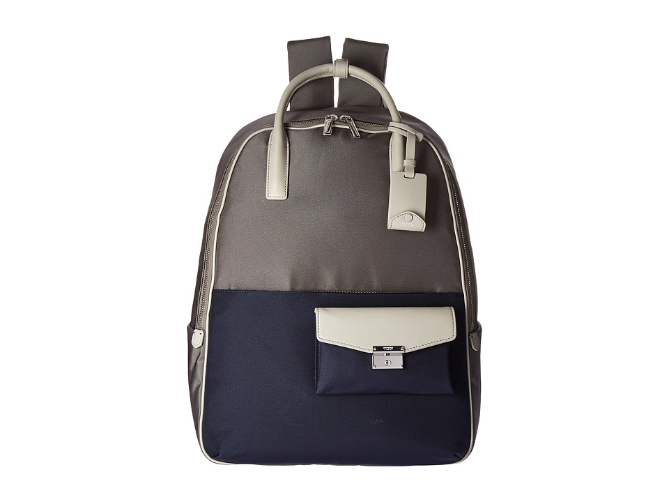 Tumi - Larkin Portola Convertible Backpack (Grey/Blue Spectator) Backpack Bags