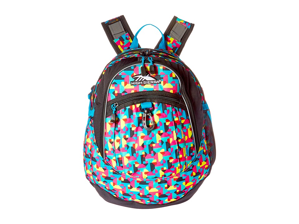 High Sierra - Fat Boy Backpack (Heart Throb/Black/Pool) Backpack Bags