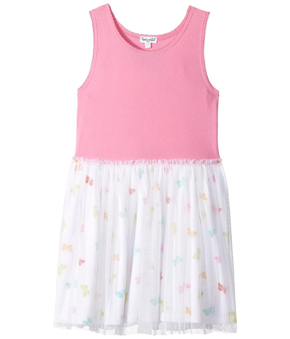 Splendid Littles - Always Butterfly Print Tulle Dress (Little Kids) (Pink) Girl's Dress