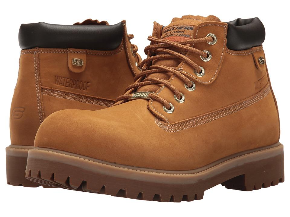 SKECHERS - Verdict (Wheat) Men's Lace-up Boots