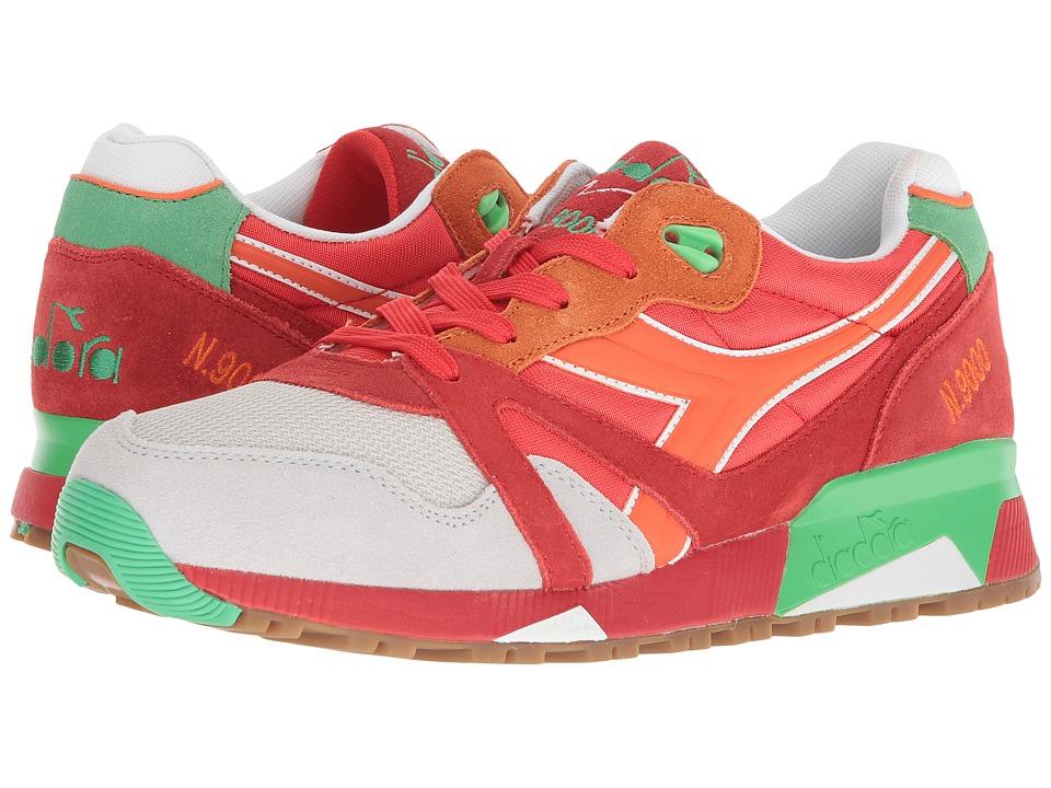 Diadora N9000 NYL (Poppy Red/Irish Green) Athletic Shoes