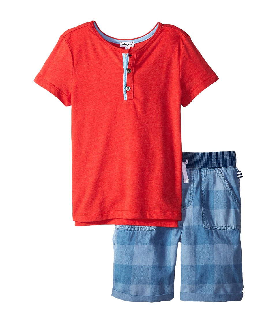 Splendid Littles - Henley Tee Set (Little Kids/Big Kids) (Red) Boy's Active Sets