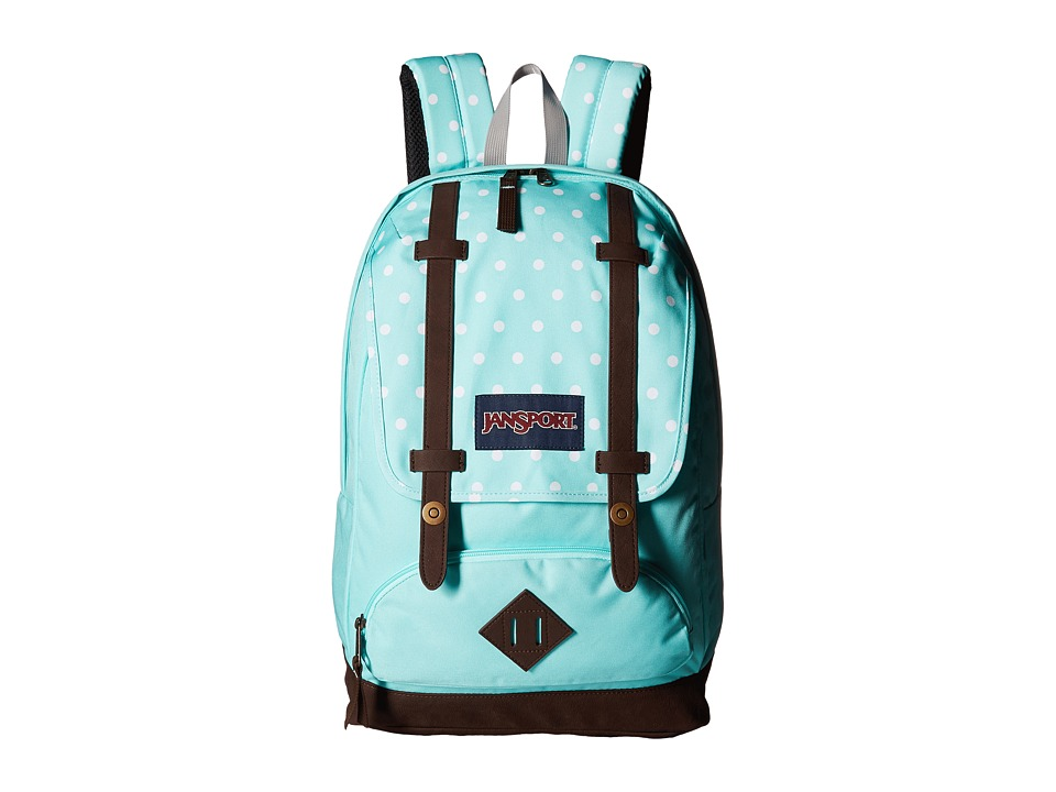 JanSport - Cortlandt Backpack (Aqua Dash Dots) Backpack Bags