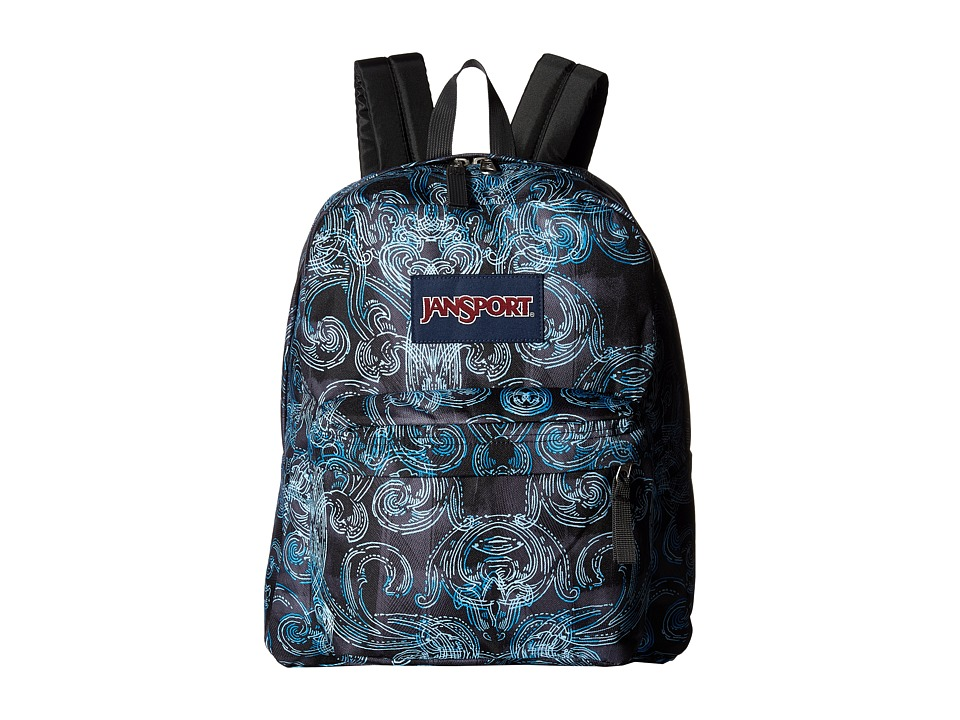 JanSport - Spring Break (Multi Ornate Blues) Backpack Bags