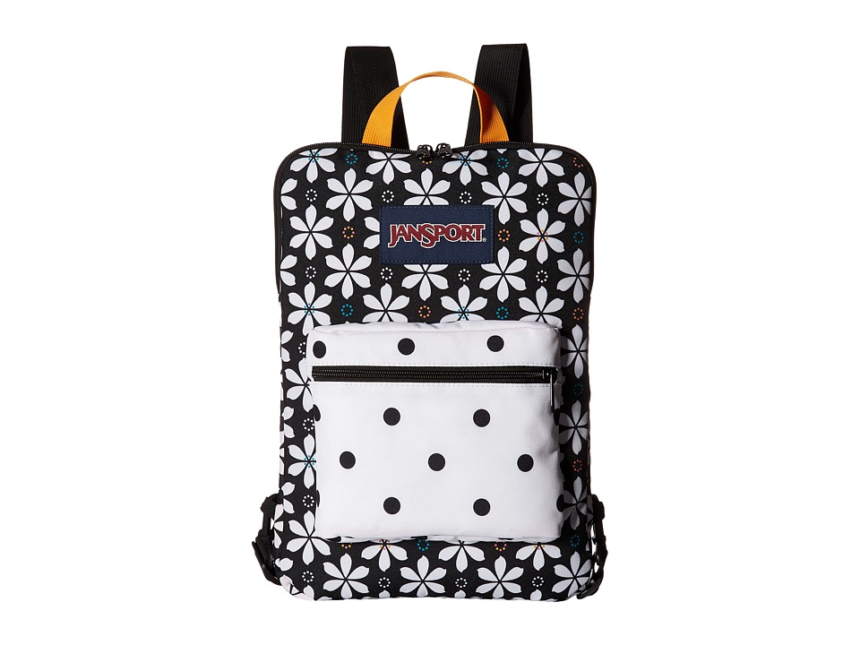 JanSport - Superbreak Sleeve (Black Floral Geo) Day Pack Bags