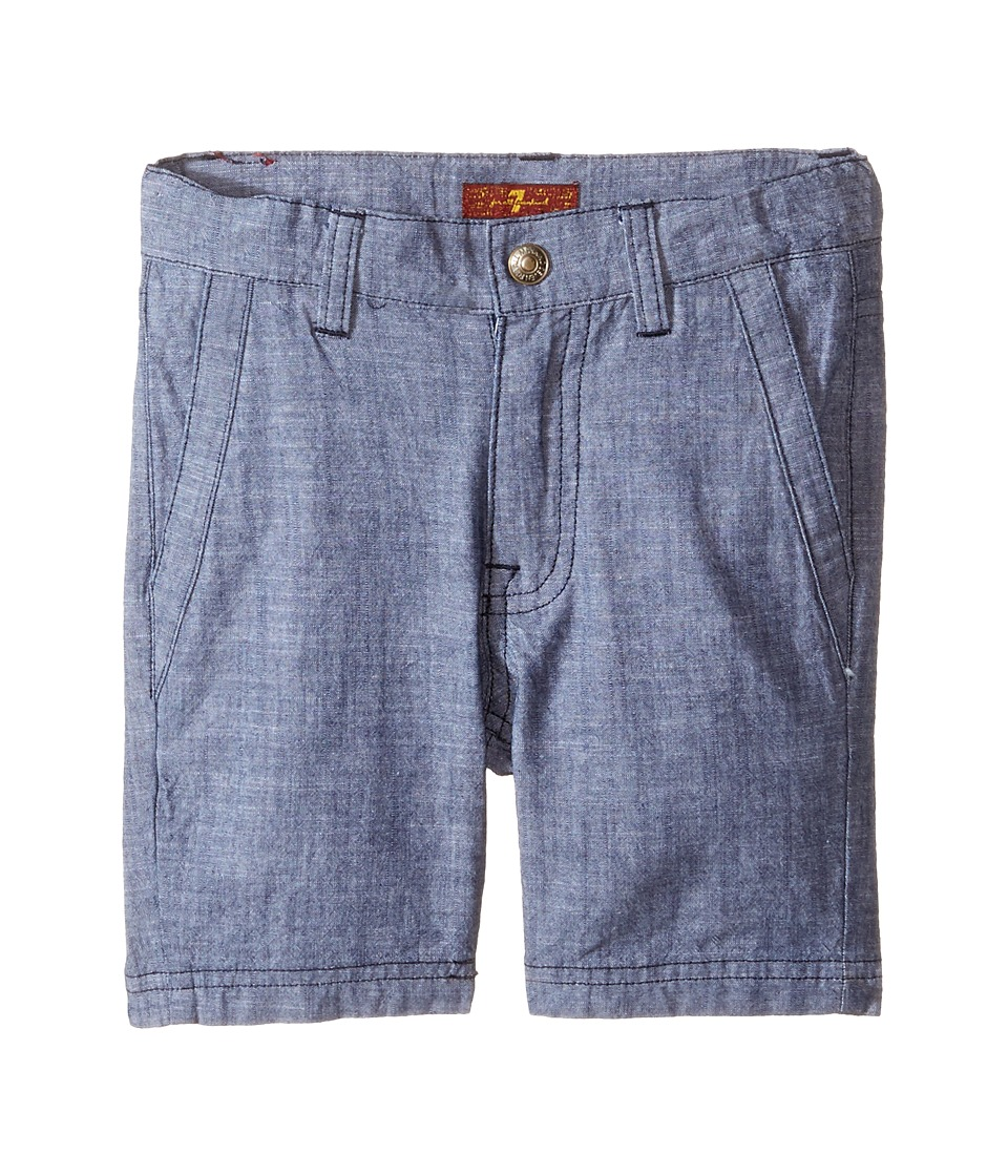 7 For All Mankind Kids - Chambray Shorts (Toddler) (Chambray) Boy's Shorts