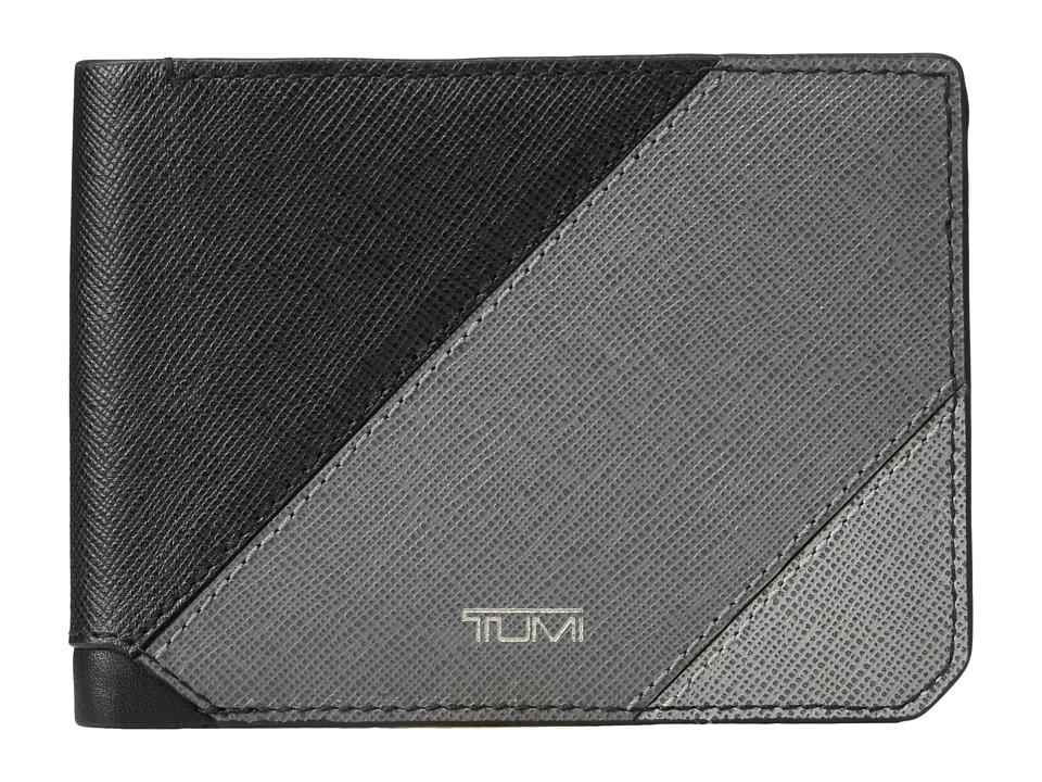 Tumi - Mason Double Billfold (Grey Pieced Leather) Bill-fold Wallet