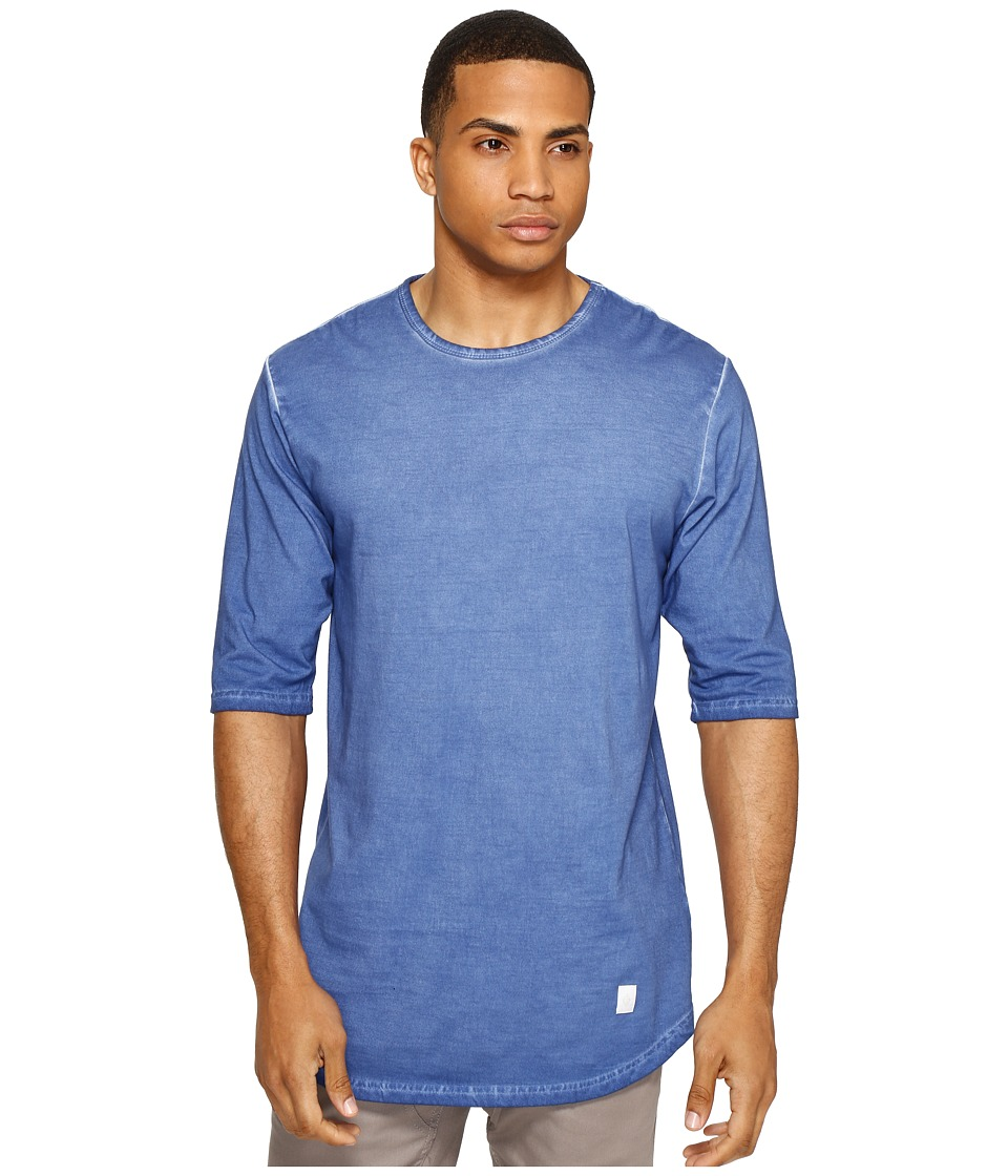 Akomplice - Trent Elongated Sleeve Overdye (Royal Blue) Men's Clothing