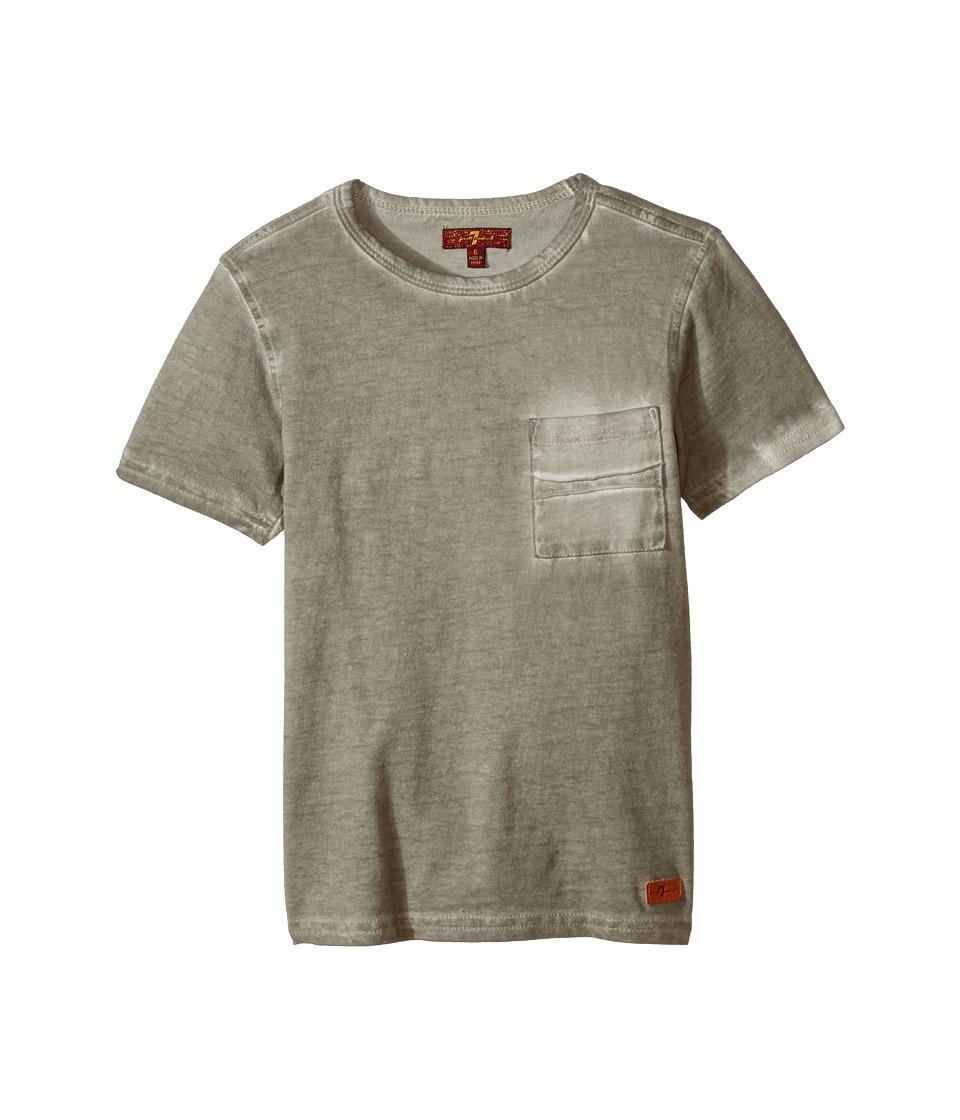 7 For All Mankind Kids - Crew Neck Tee (Little Kids/Big Kids) (Wild Dove) Boy's T Shirt