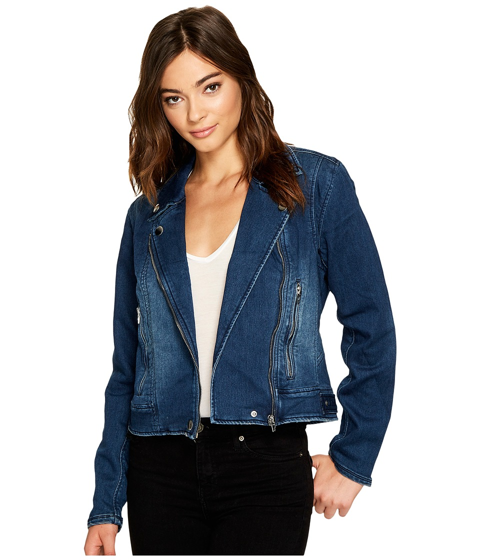 Blank NYC - Jersey Blue Moto Jacket in Hello Moto (Hello Moto) Women's Coat