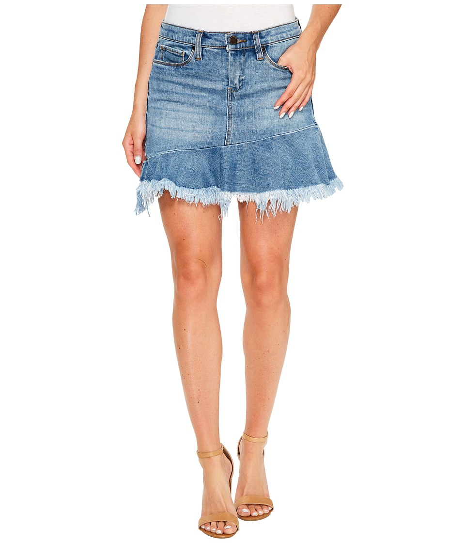 Blank NYC - Denim Ruffle Mini Skirt in Fancy That (Fancy That) Women's Skirt