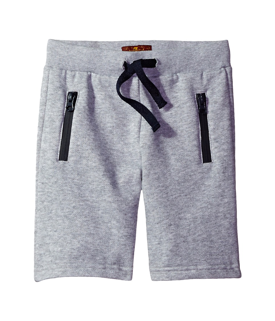 7 For All Mankind Kids - Jogg Shorts (Big Kids) (Heather Grey) Boy's Shorts