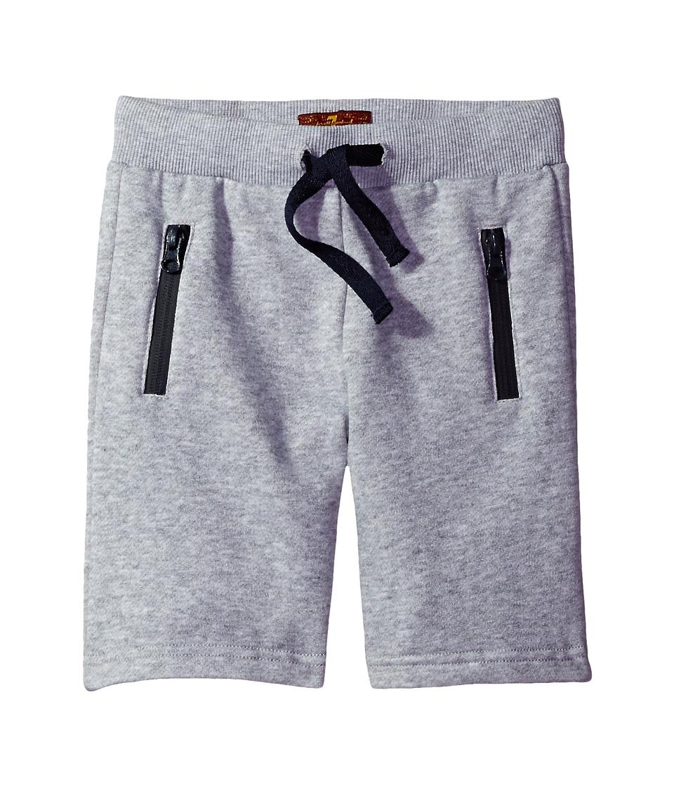 7 For All Mankind Kids - Jogg Shorts (Big Kids) (Heather Grey) Boy's Shorts