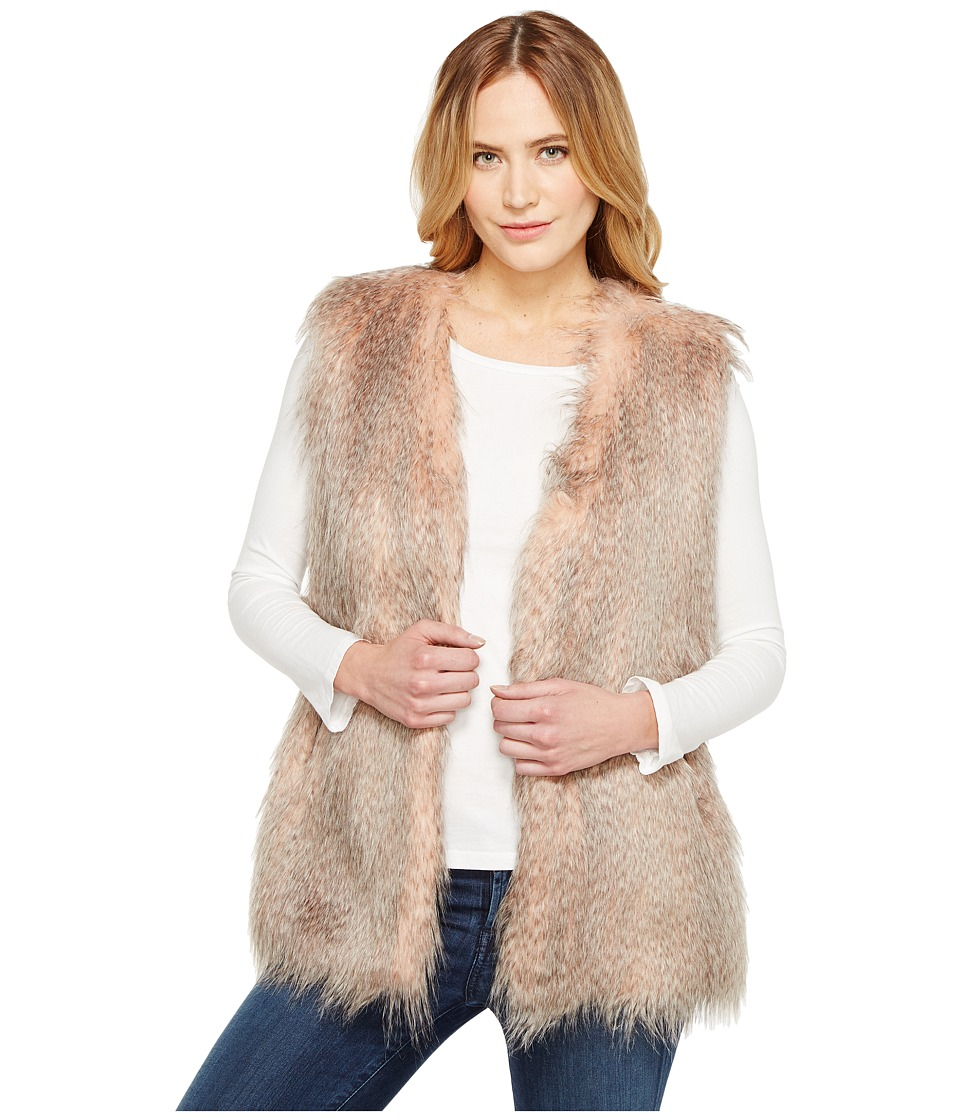 Via Spiga - Collarless Feather Vest (Pink Multi) Women's Coat