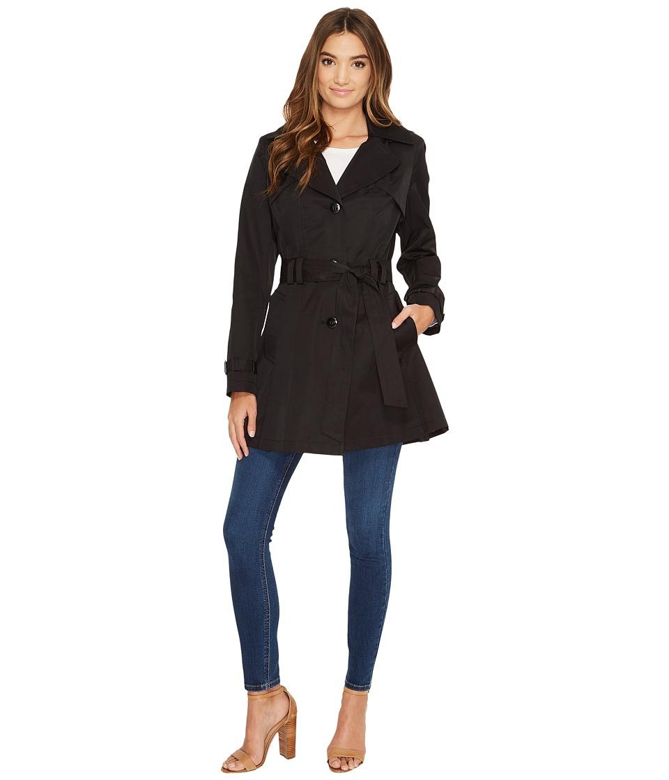 Via Spiga - Belted Raincoat (Black) Women's Coat