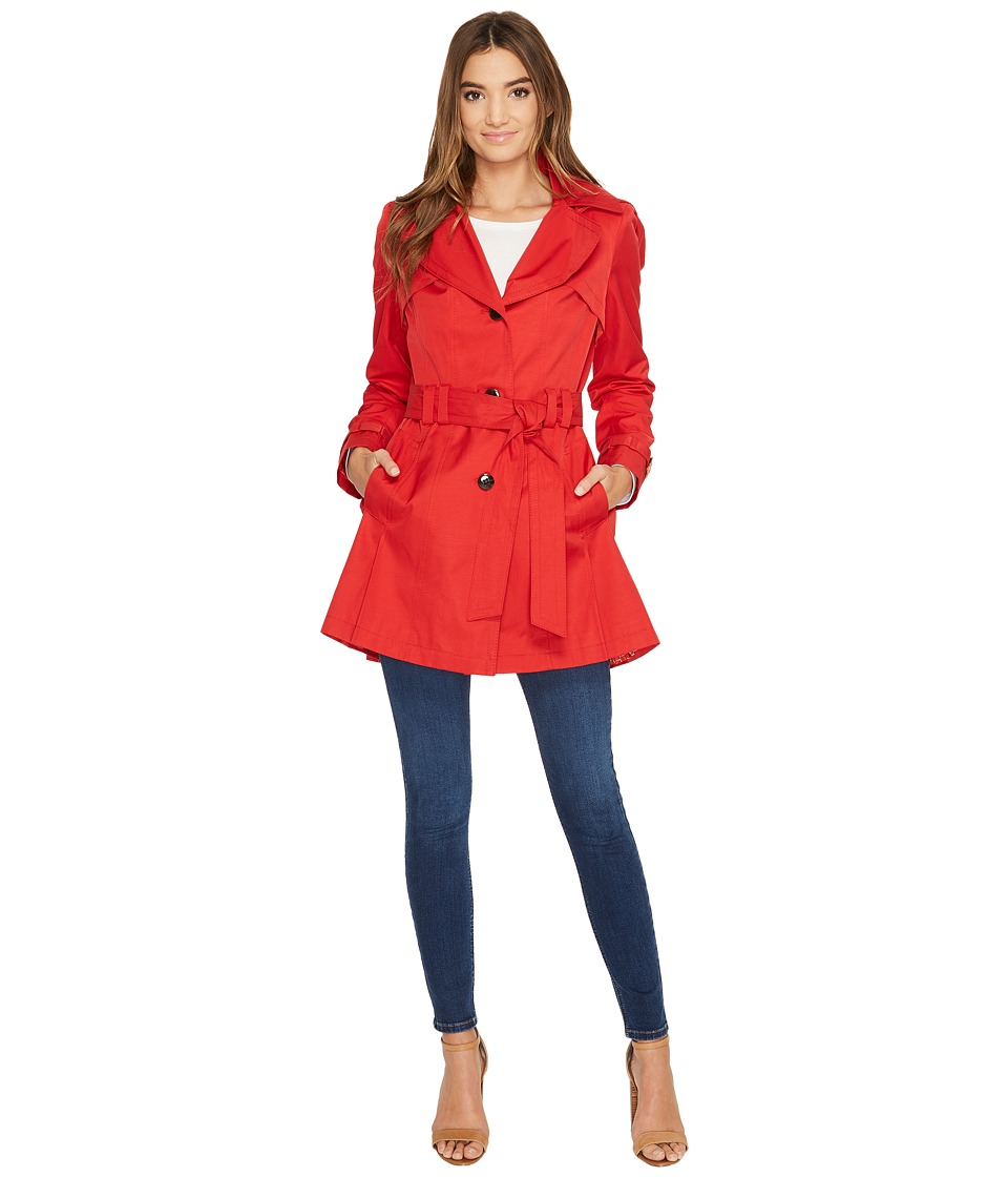 Via Spiga - Belted Raincoat (Bistro Red) Women's Coat
