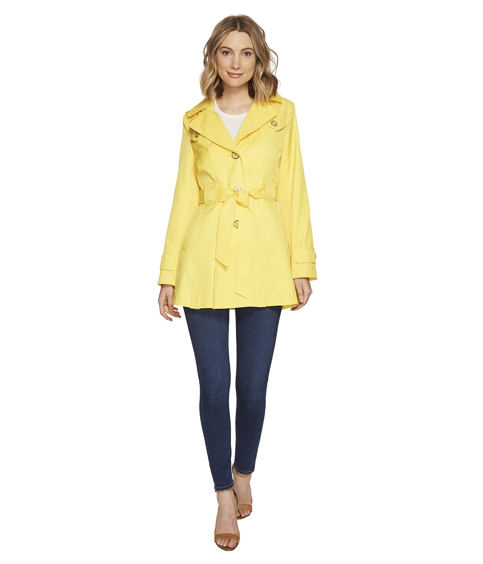 Via Spiga - Spread Collar Spring Coat (Citrus) Women's Coat
