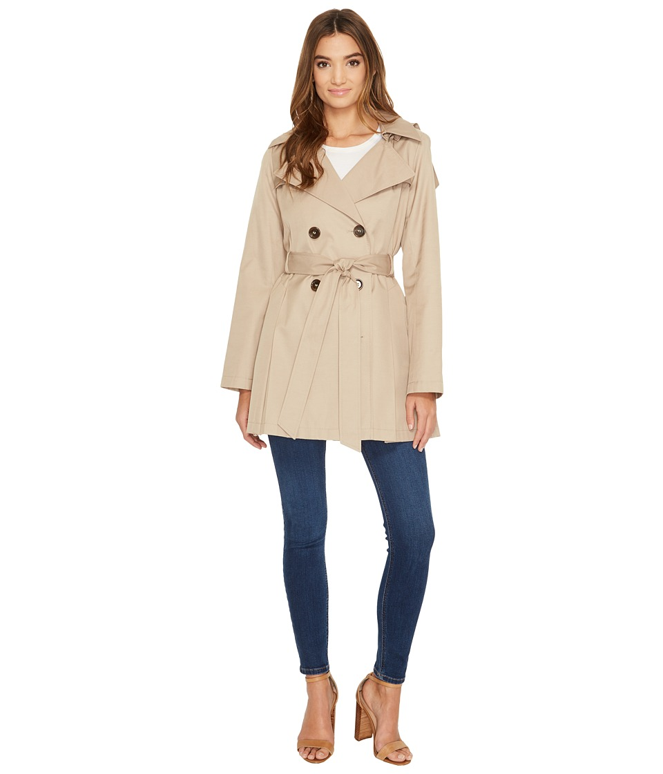 Via Spiga - Double Breasted Trench Coat (Sand) Women's Coat