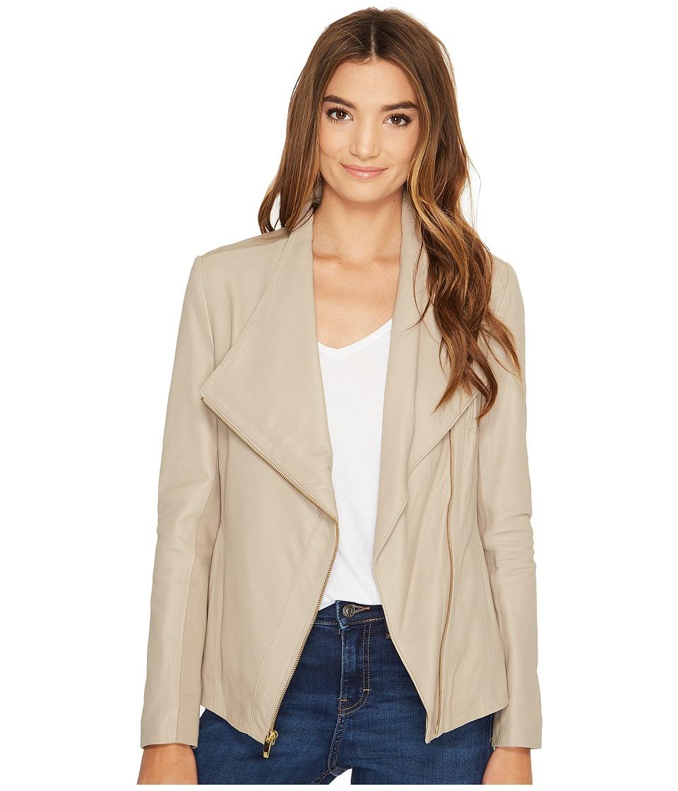 Via Spiga - Asymmetrical Leather (Taupe) Women's Coat