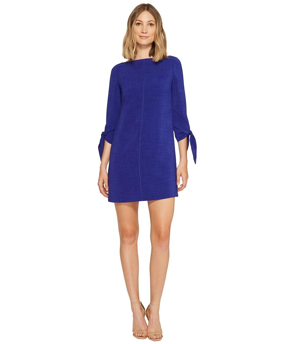 Tahari by ASL - Textured Tie Sleeve Shift Dress (Violet) Women's Dress