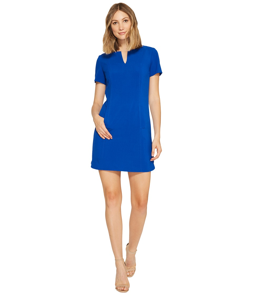 Tahari by ASL - Shift Dress with Pockets (Pacific Blue) Women's Dress