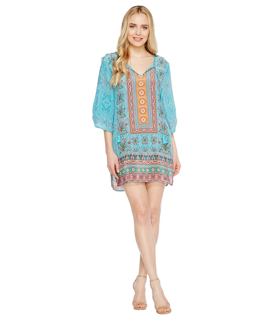 Tolani - Evie Tunic Dress (Turquoise) Women's Dress