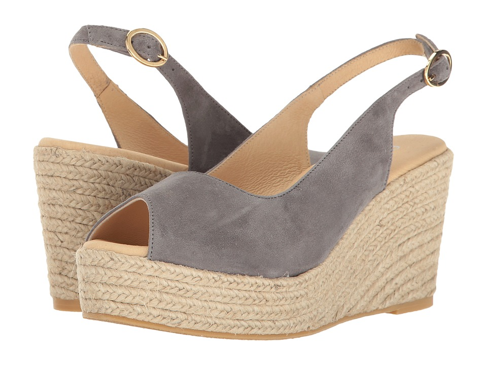 Cordani - Evan (Carbon Suede) Women's Wedge Shoes