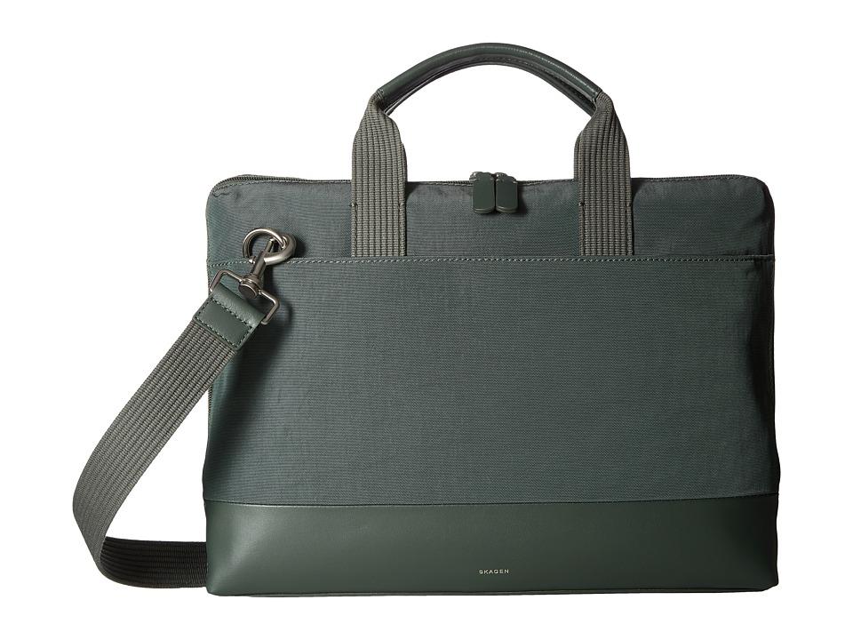 Skagen - Peder Slim Briefcase (Agave) Briefcase Bags
