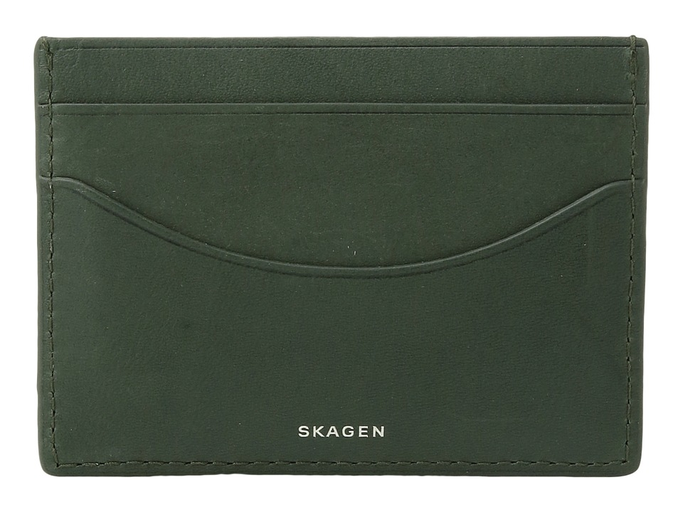 Skagen - Torben Card Case (Agave) Credit card Wallet