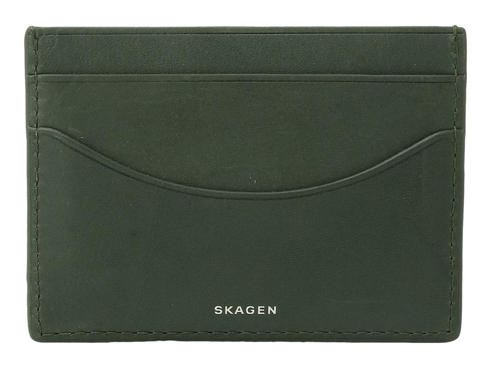 Skagen - Torben Card Case (Agave) Credit card Wallet