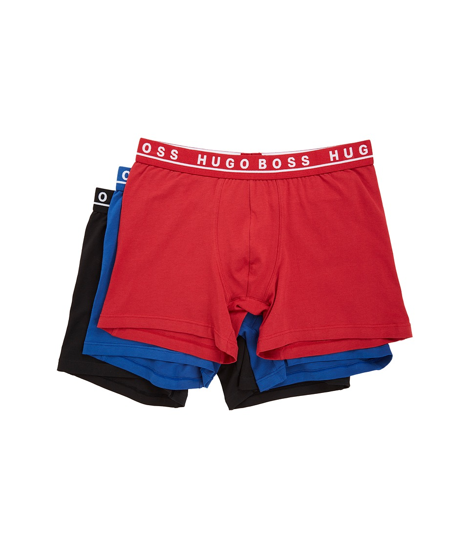 BOSS Hugo Boss - Boxer Brief 3-Pack CO/EL 10146061 01 (Red/Blue/Black) Men's Underwear