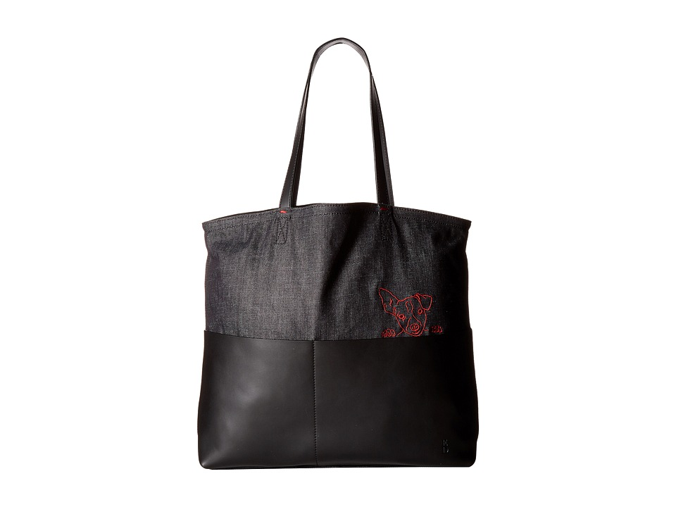 ED Ellen DeGeneres - Henlee Tote (Black/Dark Denim) Tote Handbags