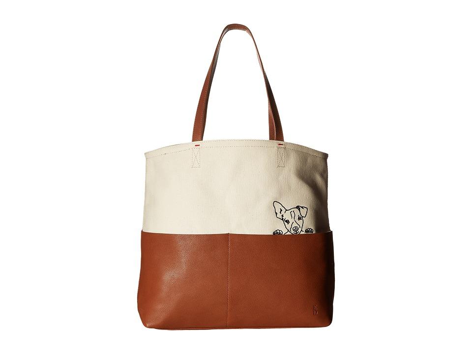 ED Ellen DeGeneres - Henlee Tote (Dark Umber/Natural) Tote Handbags
