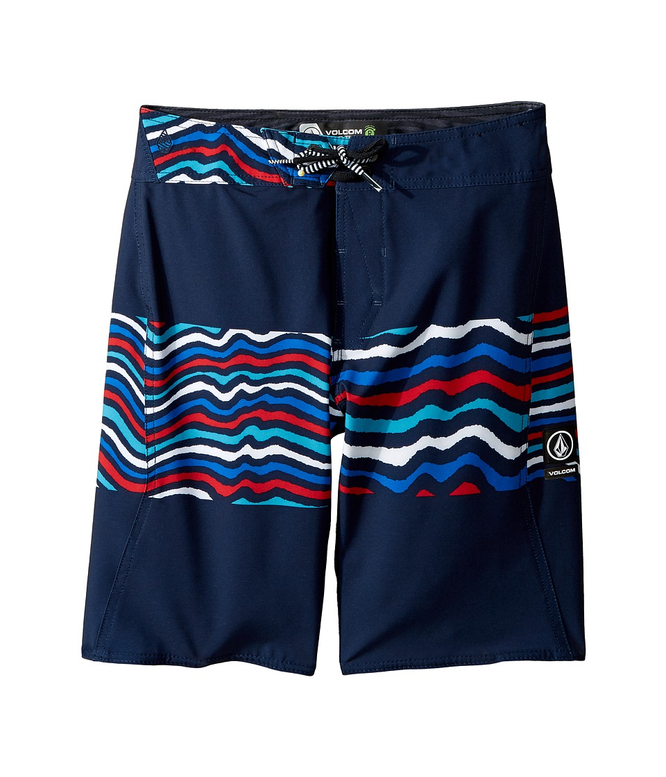 Volcom Kids - Macaw Mod Boardshorts (Big Kids) (Blue Combo) Boy's Swimwear