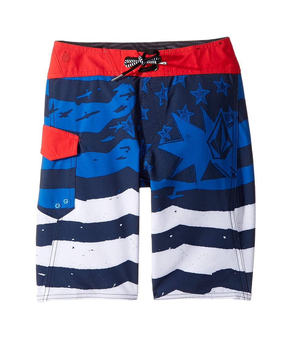 Volcom Kids - Youth of July Mod Boardshorts (Big Kids) (Blue True) Boy's Swimwear