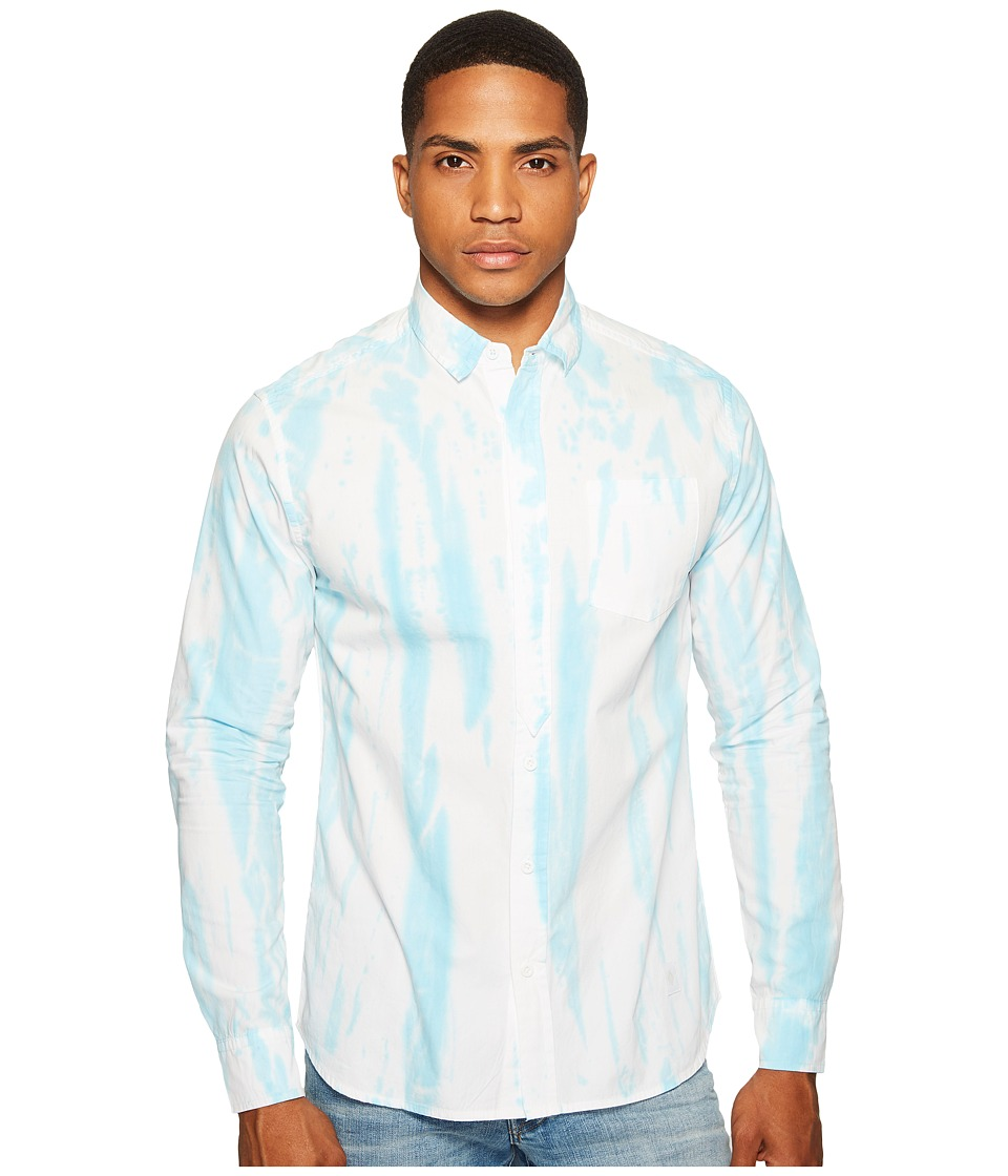 Akomplice - Louvre Long Sleeve Button Up (Blue/White) Men's Clothing