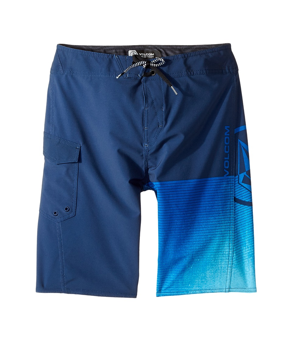 Volcom Kids - Costa Logo Mod Boardshorts (Big Kids) (Indigo) Boy's Swimwear