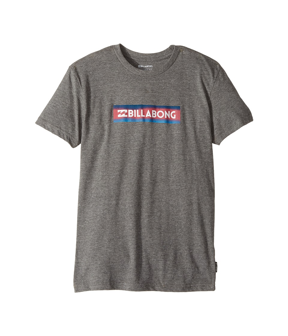 Billabong Kids - Unity Block Tee (Big Kids) (Dark Grey Heather) Boy's T Shirt