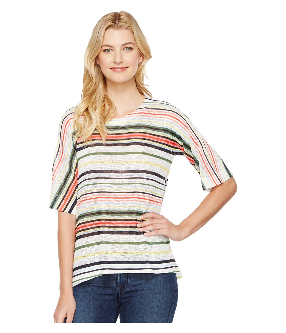 Nally & Millie - Striped Knit Top (Multi) Women's Clothing