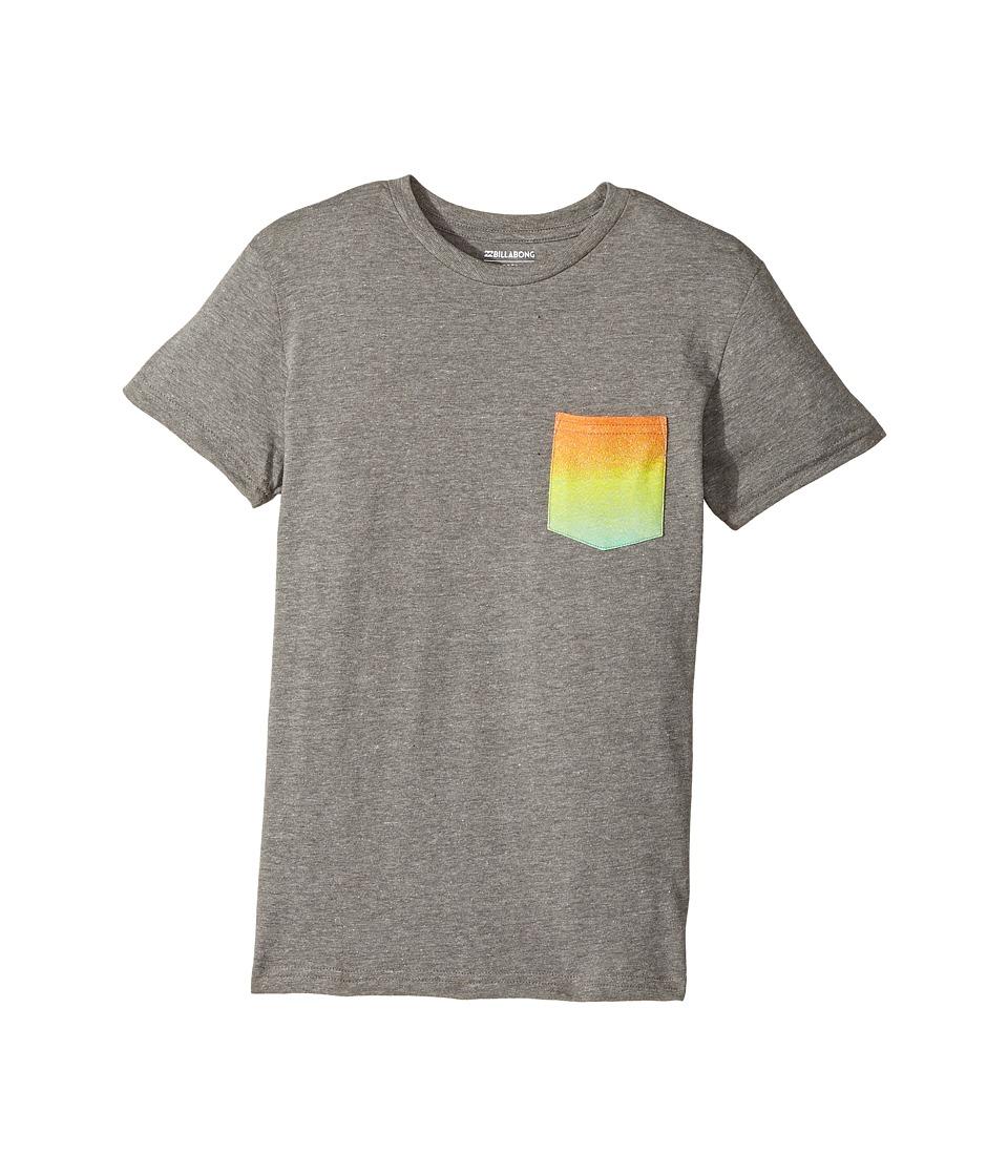 Billabong Kids - Team Pocket Tee (Big Kids) (Dark Grey Heather) Boy's T Shirt