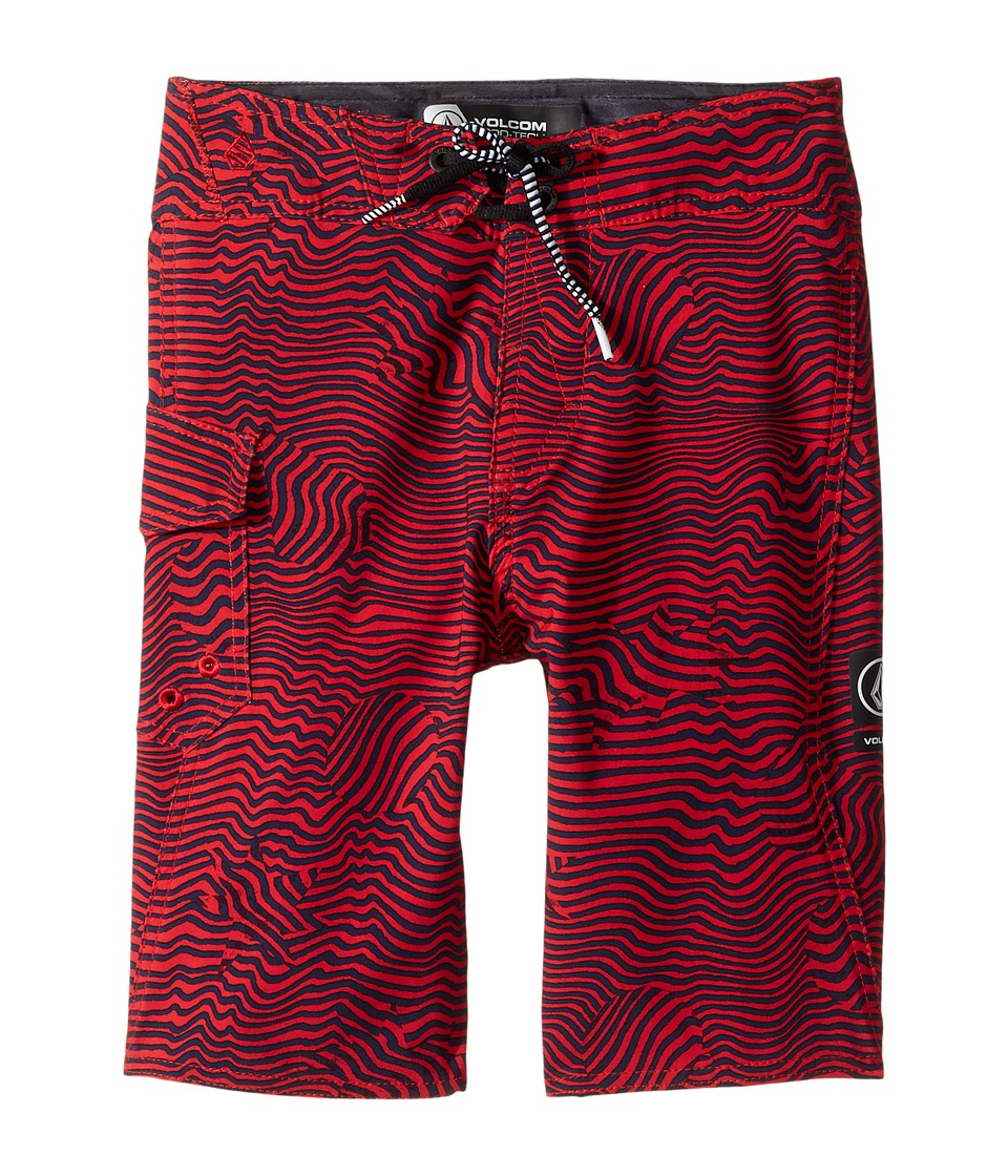 Volcom Kids - Magnetic Stone Mod Boardshorts (Big Kids) (True Red) Boy's Swimwear