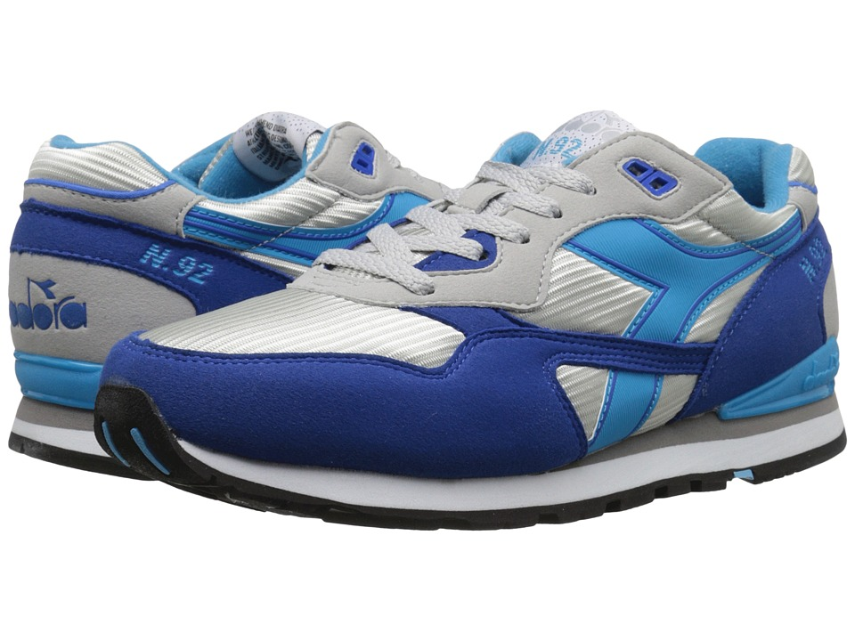 Diadora - N-92 (Grey Alaska/Micro Blue) Athletic Shoes
