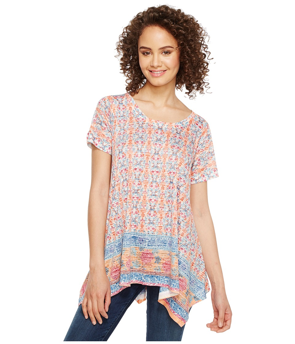 Nally & Millie - Border Print Sharkbite Tunic (Multi) Women's Clothing